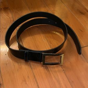 Brand new patent black belt with gold buckle